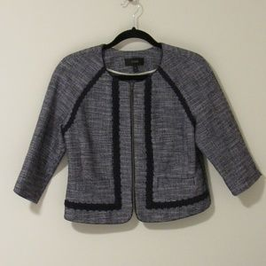Lined navy J. Crew jacket, mid-length sleeves